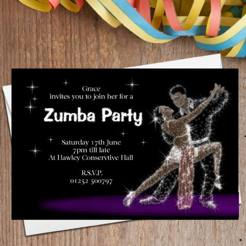 10 Personalised Dance Party Invitations N8